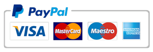 We receive payments through Paypal and with a credit card